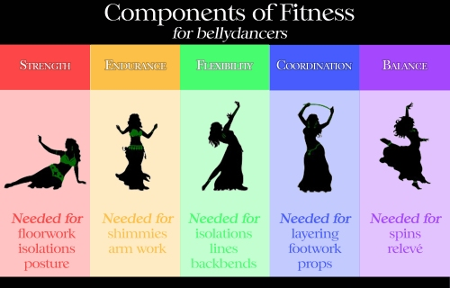 Components of Fitness for Belly Dancers